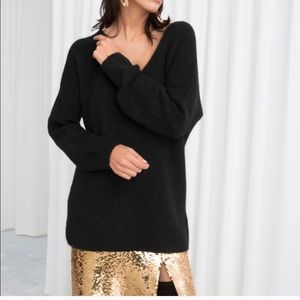 & other stories v neck sweater